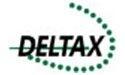 Logo Delftse Taxicentrale Deltax