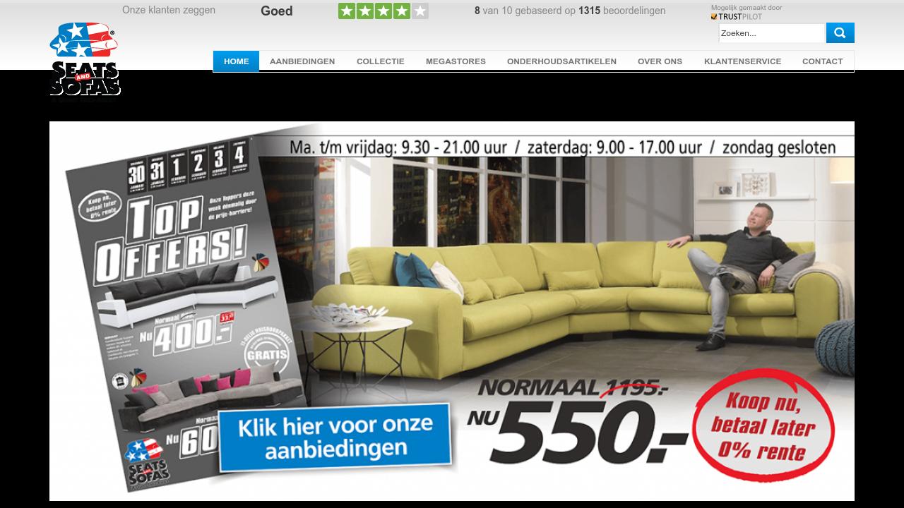 seats and sofas klantervaringen recensies. Black Bedroom Furniture Sets. Home Design Ideas